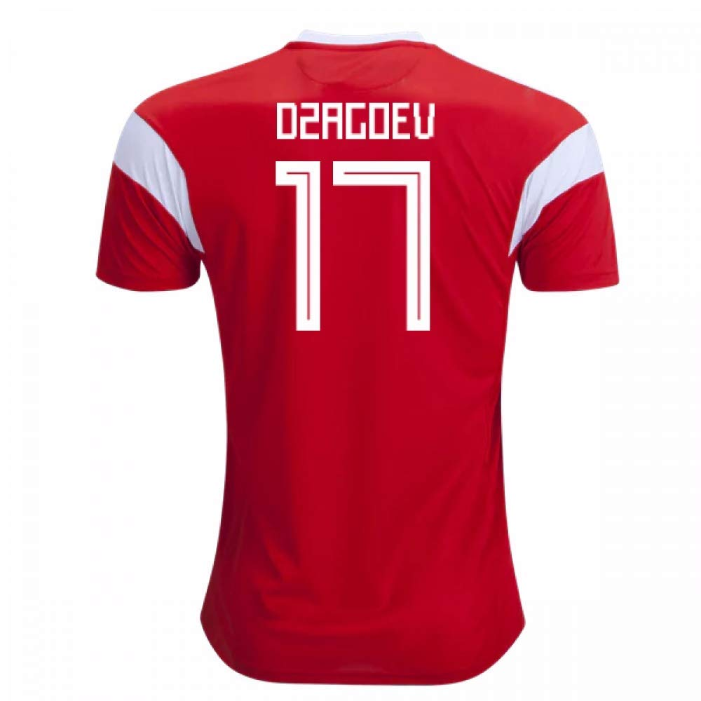 2018-19 Russia Home Football Soccer T-Shirt Trikot (Alan Dzagoev 17) - Kids
