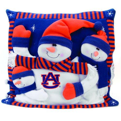 SC Sports Auburn Tigers Snowman Pillow 18