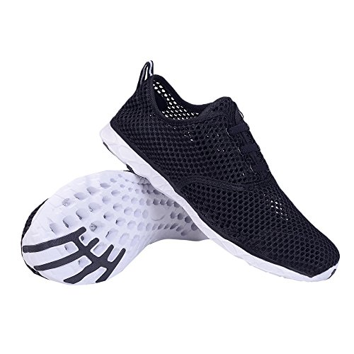 WateLves Womens Beach Shoes Athletic Mesh Pool Drying Aqua Shoes Water Lightweight Quick Shoes Black Shoes Sport Slip Walking On rqwECr0