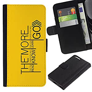 Planetar® Colorful Pattern Flip Wallet Leather Holster Protective Skin Case Cover For Apple (5.5 inches!!!) iPhone 6+ Plus ( Read Know Learn Go )