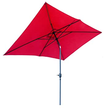 SNAIL 6u00276u0026quot; X 10u0027 Outdoor Rectangular Patio Umbrella Water Resistant  Garden Patio