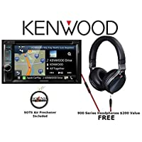 Kenwood DMX7704S 6.95 Digital Media Receiver with a Kenwood 900 Series On Ear Headphones and a FREE SOTS Air Freshener