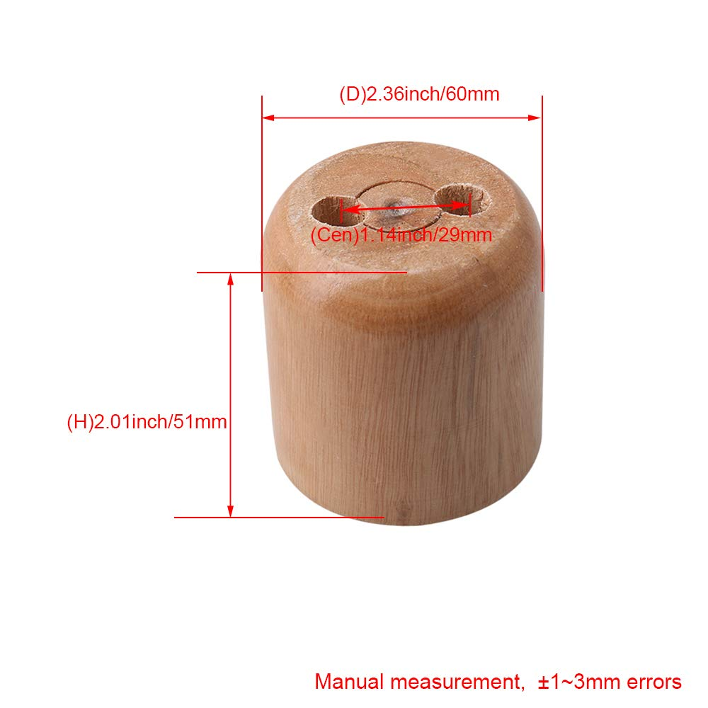 RDEXP 6x5.1cm Wooden Color Pine Wood Unpainted Furniture Sofa Chair Loveseat Cabinets Couch Legs Feet Set of 4 by RDEXP (Image #4)