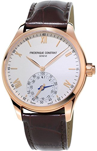 - Frederique Constant Horological Smartwatch Mens Fitness Watch - 42mm White Face Swiss Quartz Smart Running Watch - Brown Leather Band Water Resistant Sleep Monitor Activity Tracker Watch FC-285V5B4