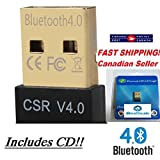 New iBoxDeals High Speed Mini USB Bluetooth Dongle Adapter Wireless Receiver CSR V4.0 Chipset for Windows 98, 98 se, Me, 2000, XP, Vista, Windows7 WITH CD