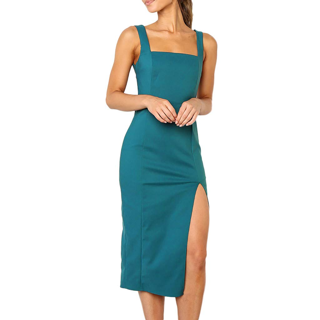 WQIANGHZI Damen Abendkleid Hoch Geschnitten Eine Schulter Cocktailkleider Partykleid Langarm Ballkleider Elegant Elegant Einfarbig Paket-Hüfte-Kleid