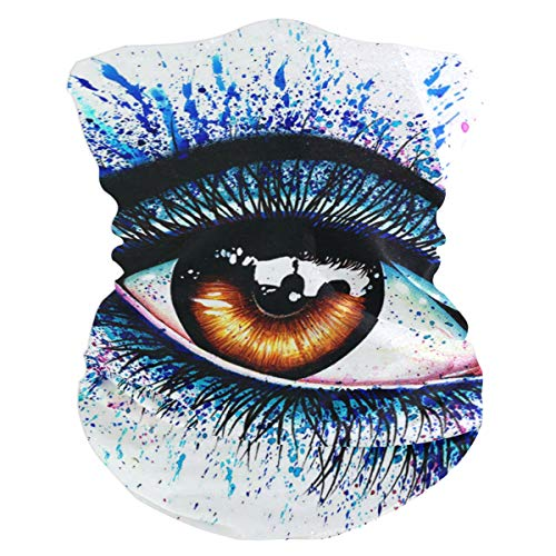 Signed Art Print Colorful Eye Balaclava Womens Headband Scarf Mens Versatile Bandana, Muffler, Neck Gaiter, Magic, Facemask -