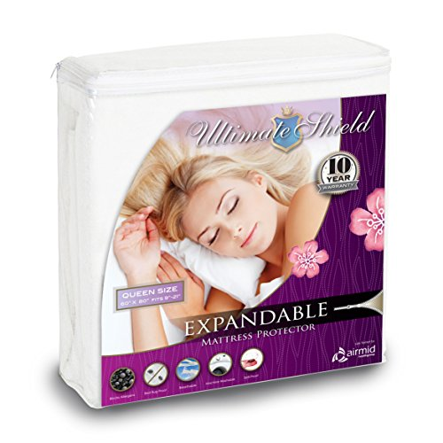 Ultimate Shield Mattress Protector – Patent Protected and Laboratory Tested, Bed Bug and Water/Spill Proof (Queen Size)