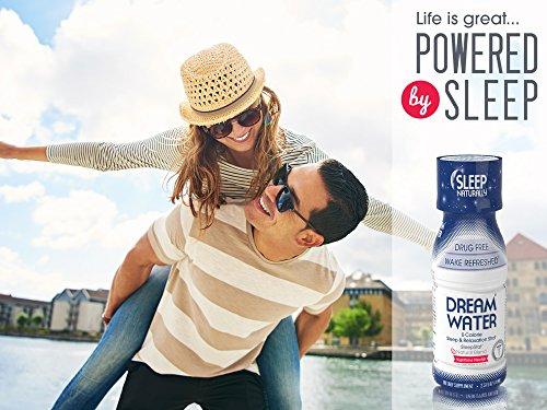 Dream Water Natural Sleep Aid, GABA, MELATONIN, 5-HTP, 2.5oz Shot, Nighttime Nectar 24 Count by Dream Water (Image #2)