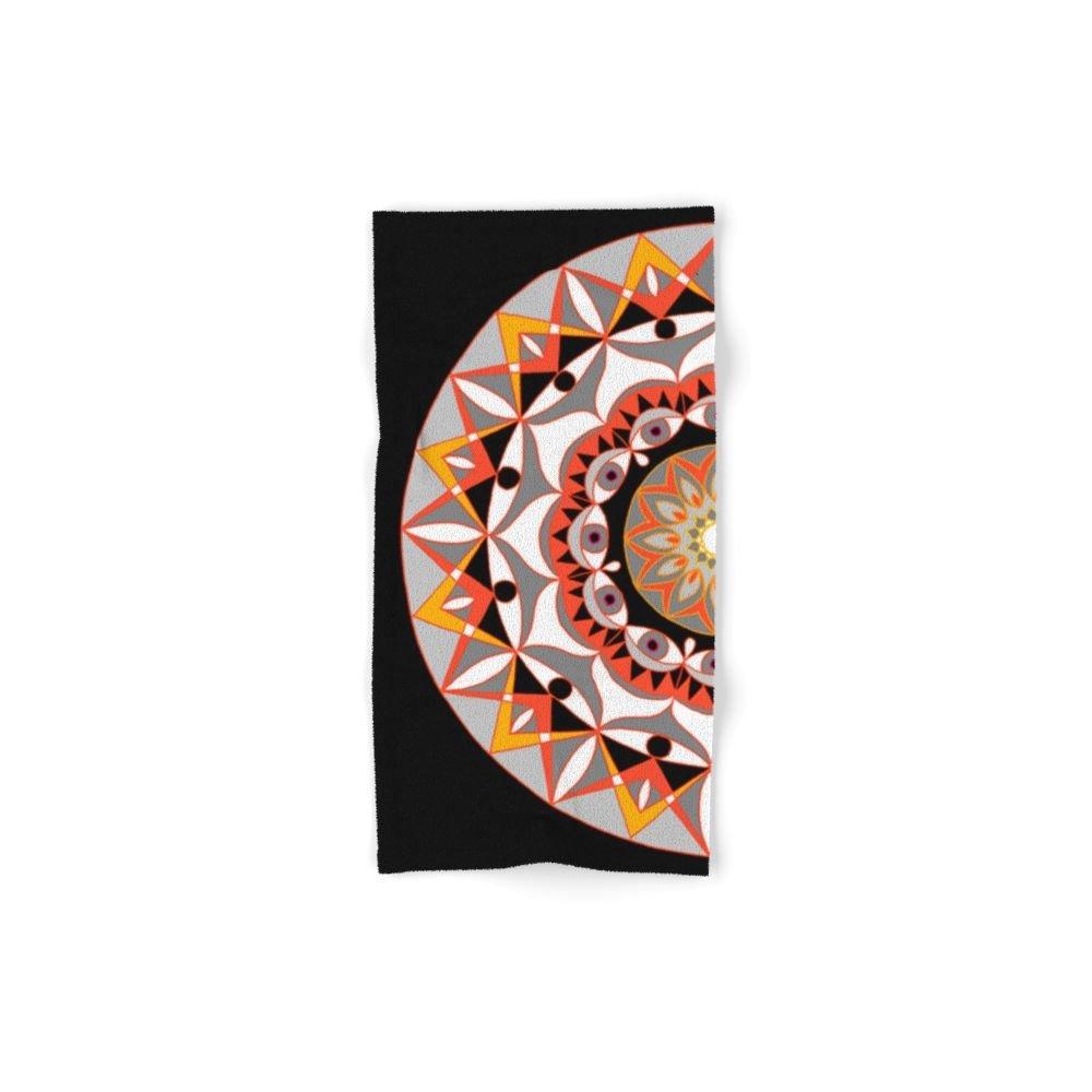 Society6 My Solar Plexus Mandhala | Secret Geometry | Energy Symbols Set of 4 (2 hand towels, 2 bath towels)