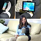 Clamp Champion Pro - Universal Tablet and Cell Phone Holder - Smartphone and Tablet Stand for the Bed Sofa - for 2 - 12 Inch Devices (Black)