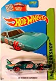 Hot Wheels, 2015 HW Workshop, '70 Plymouth Superbird [Turquoise] 229/250