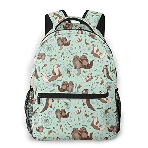 Price comparison product image Cartoon Cute Otter Backpack - Men Women Business Travel School Multipurpose Daypacks