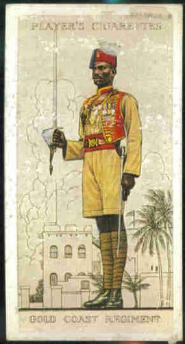 Gold Coast Regiment 1938 Player Cigarettes Military Uniforms of the British Empire Overseas #43 (FAIR) ripped back