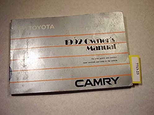 1992 toyota camry owners manual toyota amazon com books rh amazon com owners manual toyota camry 2018 owners manual toyota camry 2015