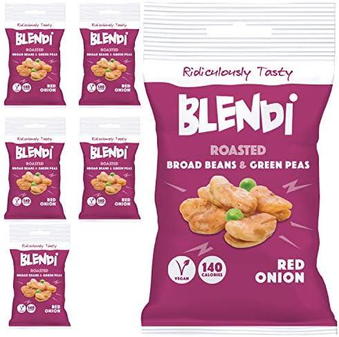 Blendi Snacks Saludables Bajo en Calorías - Aperitivos Sin Gluten, Altos en Proteína Vegana y Fibra - Habas y Guisantes Tostados Crujientes, Sabor ...