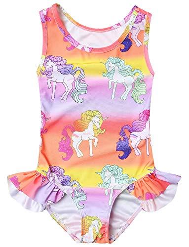334a0671a9b0c QPANCY Girls Swimsuits Unicorn Bathing Suits Toddler Kids One Piece Swimwear