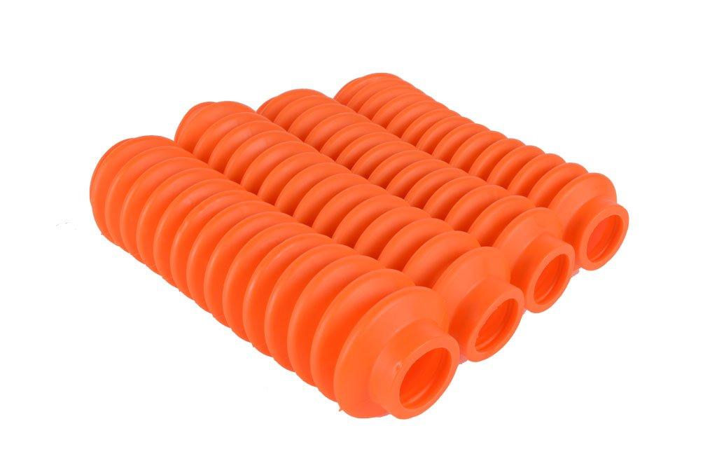 4 Shock Boots (Fluorescent Orange) Fits Most Shocks for Jeep Wrangler JK All Models Rukse RK9113-JK