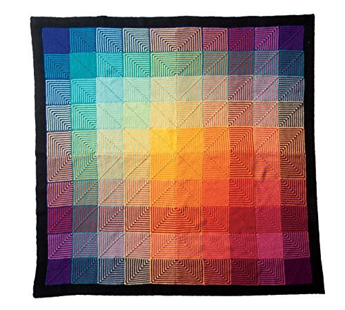 Knit Picks Hue Shift Afghan Complete Knitting Project Kit (Rainbow) by KnitPicks (Image #2)