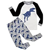 erthome 1-7 Years Baby Clothes Outfits 2Pcs Toddler Kids Boys Girls Pajamas Cartoon Print Tops Pants Outfits Set (4-5 Years, White)