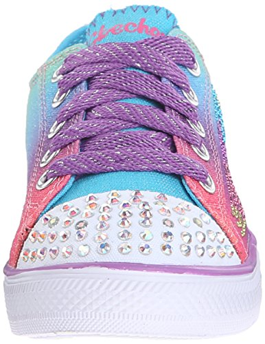 Skechers Twinkle Toes Chit Chat Light up Sneaker Lace-up Multicolor - multicolor