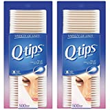 Q-tips Cotton Swabs, 500 Count (Pack of 2)