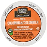 Brown Gold Single Origin Coffee Capsules, 100% Colombian, Medium Roast, Compatible with Keurig K-Cup Brewers, 24 Count