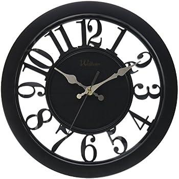 amazon com ashton sutton round quartz analog wall clock Decorative Square Wall Clocks Large Large Wall Clocks for Living Room