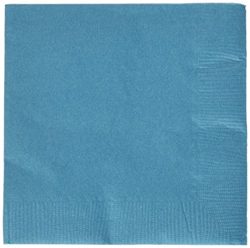 100% Recycled Dinner Napkin - Durable Eco Party 3-Ply Beverage Napkins Tableware, Peacock Blue, Paper, 5