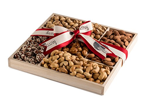 The Nuttery Deluxe Roasted Salted and Sweet Nuts Classic Mother's Day Gift Basket Roasted Sweet Fruit