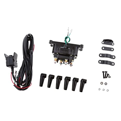 MonkeyJack 12V Electronic Winch Relay Contactor Solenoid for ATV UTV Truck Car Auto