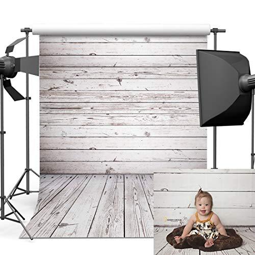 Dobeans 6ft(W) x 9ft(H) Wood Floor Photography Backdrops Grey Wood Wall Photo Backdrop Vinyl Wooden Texture Photography Background Wood Baby Shower Birthday Party Photo Background Backdrop Studio (Vinyl Photo Floor)