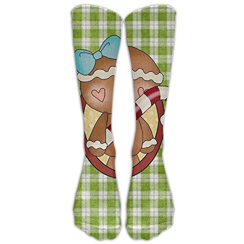 Man Gingerbread Stocking (Cool Design Gingerbread Man Christmas Crew Socks Knee Knee Socks For Women)