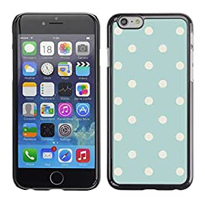 A-type Arte & diseño plástico duro Fundas Cover Cubre Hard Case Cover para Apple (5.5 inches!!!) iPhone 6+ Plus / 6S+ Plus (Polka Dot Vintage Rustic Blue Baby Pattern)