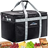 Leak Proof Commercial Grade Insulated Food Delivery Bag - Perfect For Food Transport! Extra Large Thermal Hot Bag for Catering, Delivery, DoorDash, UberEats and More! Keeps Food Hot/Cold For Hours!