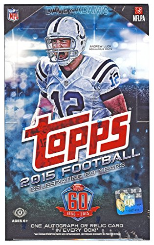 Sports Trading Cards Hobby Box (2015 Topps Football Cards Hobby Box (36 pks/Box - 1 Autograph or Memorabilia Per Box) - Release)