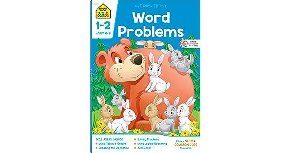 Amazon.com: School Zone - Word Problems Grades 1-2 Workbook ...
