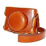 Dengpin BrownFull Body PU Leather Oil Skin Camera Case Bag Cover for Fujifilm Fuji Finepix X30