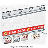 4pc New 16'' Clear Acrylic J Bar Systems For Counter, Pegboard & Slatwall