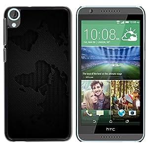 LECELL -- Funda protectora / Cubierta / Piel For HTC Desire 820 -- Black Grunge Pattern --