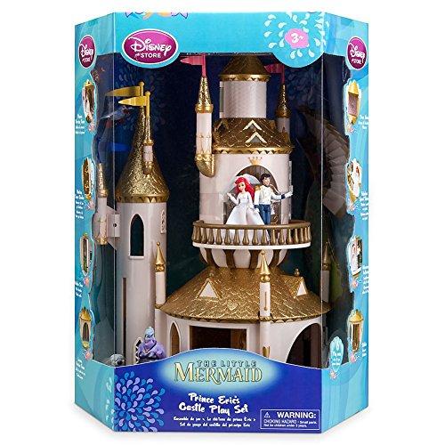 Disney Store The Little Mermaid Princess Ariel/Eric Castle Play Set + 6 Figures