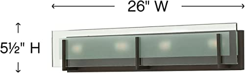 Hinkley Latitude Collection 26″ Four Light 240W G9 Bathroom Vanity Fixture