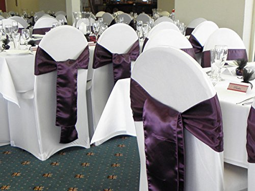 SPRINGROSE Ecoluxe White Scuba Spandex Stretch Banquet Wedding Chair Covers (set of 10).