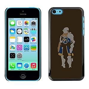 LECELL -- Funda protectora / Cubierta / Piel For Apple iPhone 5C -- Minimalist Knight --