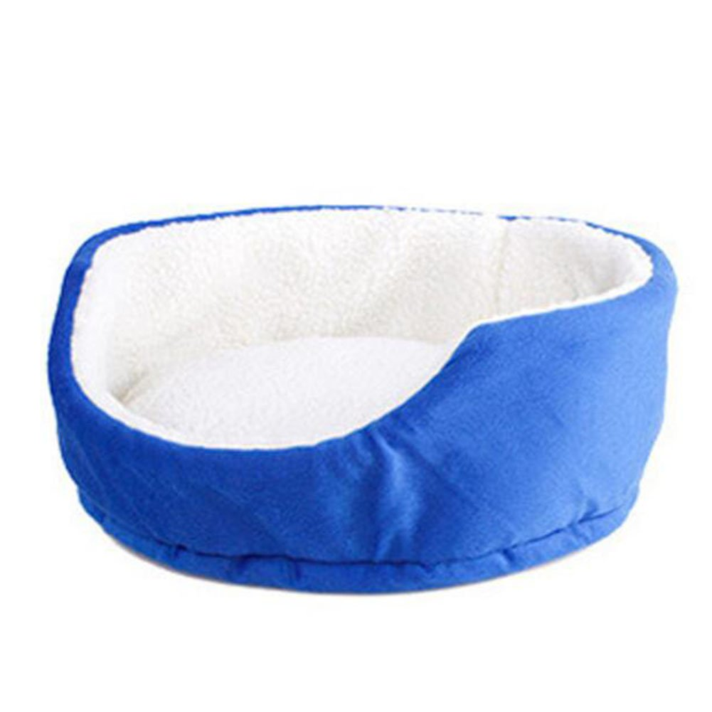 bluee WW-XX Cat Nest Cat Mat Circular Kennel Small Dogs Sofa Cushion Pet Waterloo 33  33  15CM (color   bluee)