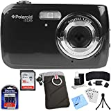 Vivitar IS126-BLK-TA Polaroid 16.1MP Black Digital Camera Bundle with SDHC 16GB Memory Card, Case, AA Batteries w/ Charger, Card Wallet, Card Reader, Mini Tripod, Screen Protectors, Cleaning Kit and M