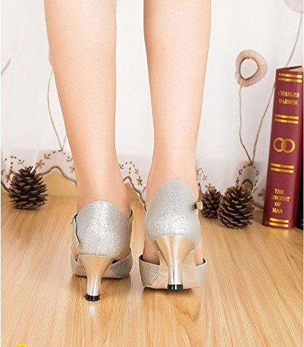 De Mediados Mujeres Blando Baile Modernos Zapatos Plata Zapatos Fondo Tacones WYMNAME Salón De De La De Baile Baile Latino Zapatos AYqS6x