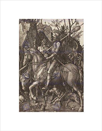 Albrecht Durer Knight Death Devil Old Master Black Art Print B12X031