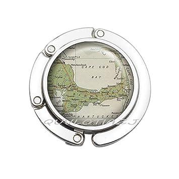 Cape Cod Florida Map.Amazon Com Purse Hookcape Cod Map Purse Hook Cape Cod Bag Hook