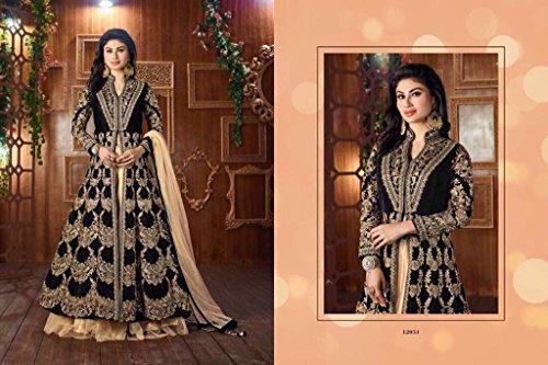 donne nuovo pavimento salwar designer abito tocco donne usura anno 8370 abito kameez anarkali musulmane partito monti Bollywood roy RqgBR